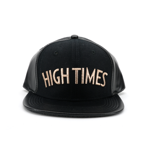 High Times Leather Snapback - Gold