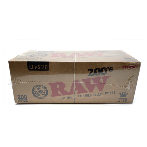 RAW 200's King Size Slim Rolling Papers