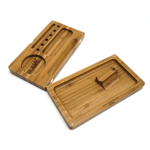 RAW Wood Backflip Magnetic Rolling Tray