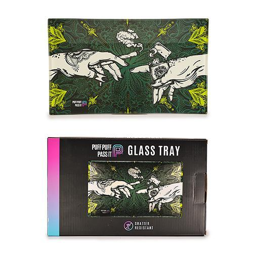 Puff Puff Pass It Shatter Proof Glass Tray - 5 Colors