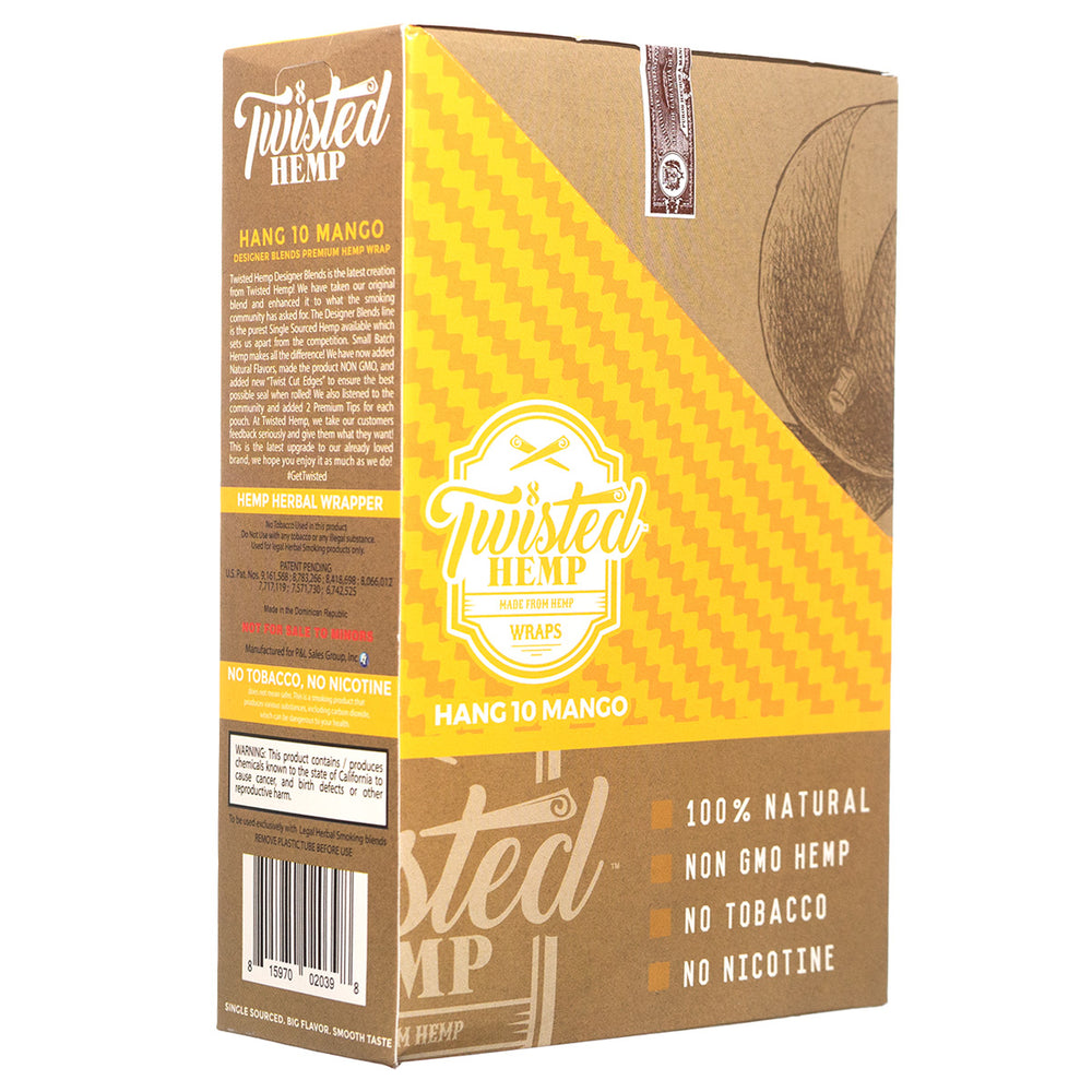 "Twisted Hemp ""Hang 10 Mango"" Hemp Wraps"