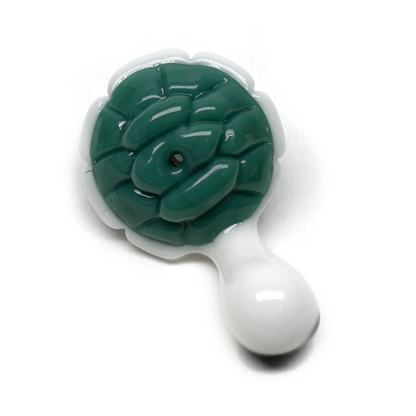 Porter Glass Carb Cap - Turtle - Bright White