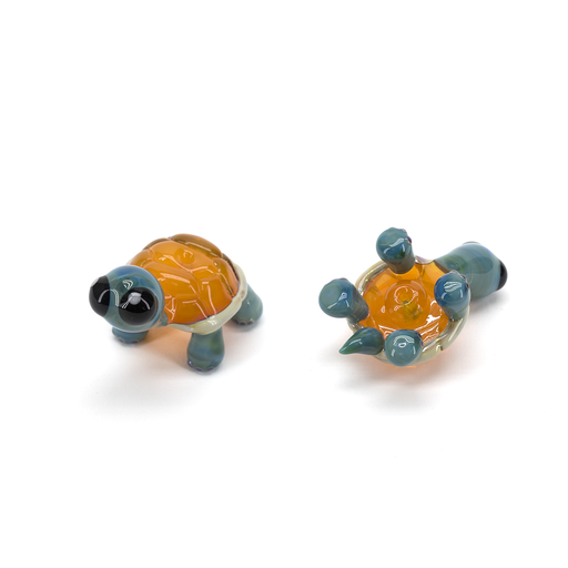 Porter Glass Carb Cap - Baby Turtle - Tangelo