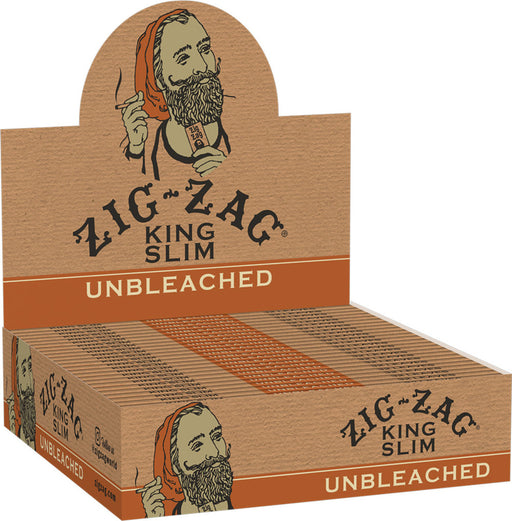 Zig Zag Unbleached Rolling Papers - Kingsize Slim