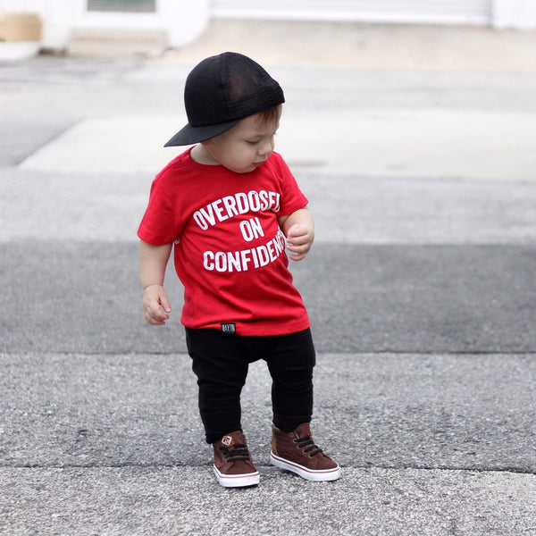 OVERDOSED ON CONFIDENCE UNISEX KIDS T SHIRT | Raxtin Clothing Co - Love Sick Threads