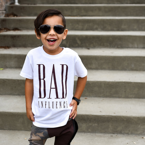 bad-influence-toddler-tshirt-kids-white-tshirt-raxtin-clothing-co