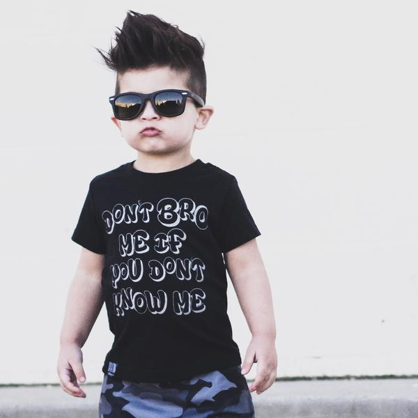 DON'T BRO ME UNISEX KIDS T SHIRT | Raxtin Clothing Co - Love Sick Threads
