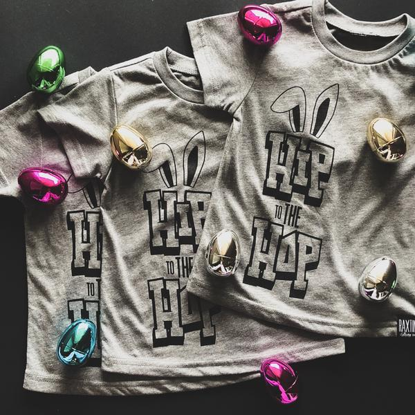 HIP TO THE HOP KIDS EASTER TSHIRT | Raxtin Clothing Co.