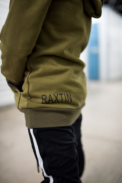 Olive green kids hoodie | Raxtin clothing co - Love Sick Threads