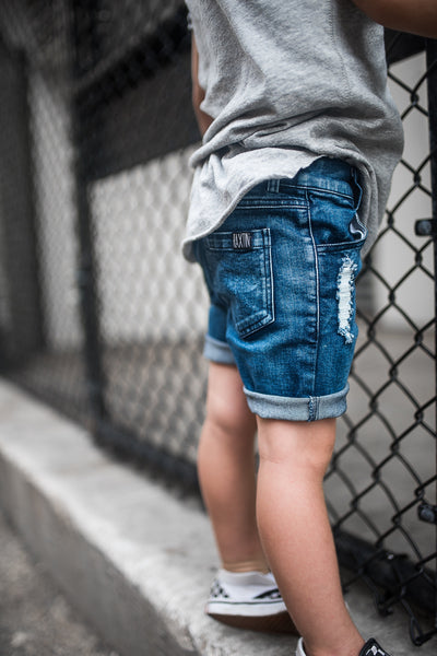 Distressed denim boy shorts | Raxtin Clothing Co | - Love Sick Threads
