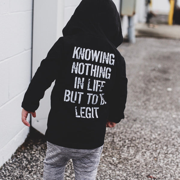 KNOWING NOTHING IN LIFE BUT TO BE LEGIT | Raxtin Clothing Co