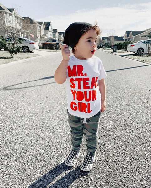 MR. STEAL YOUR GIRL KIDS T SHIRT | Raxtin Clothing Co - Love Sick Threads