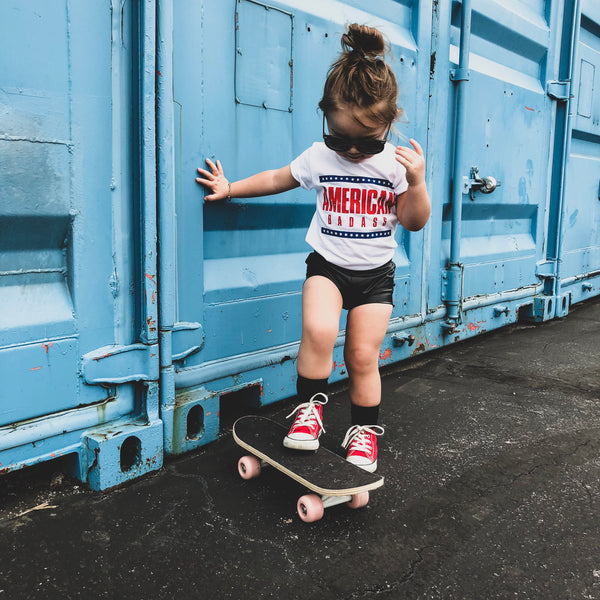 AMERICAN BADASS KIDS T SHIRT | Raxtin Clothing Co - Love Sick Threads