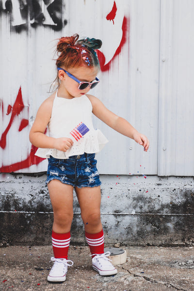 Distressed girl denim shorts | Raxtin clothing co - Love Sick Threads