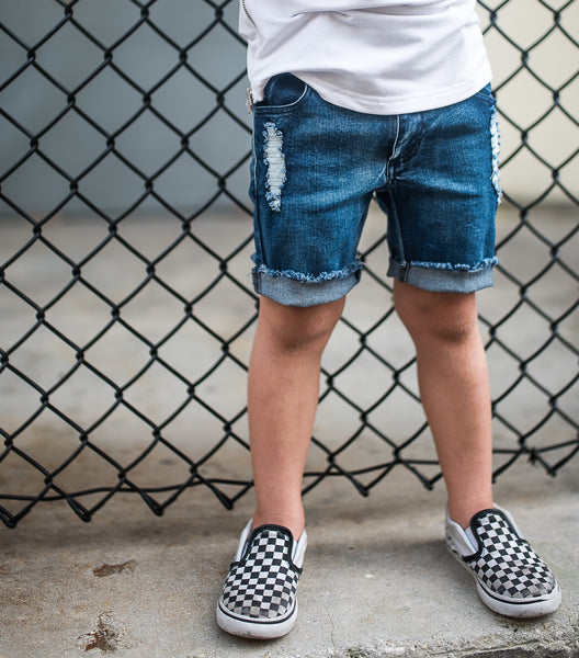 BOYS DISTRESSED DENIM SHORTS | Raxtin Clothing Co - Love Sick Threads