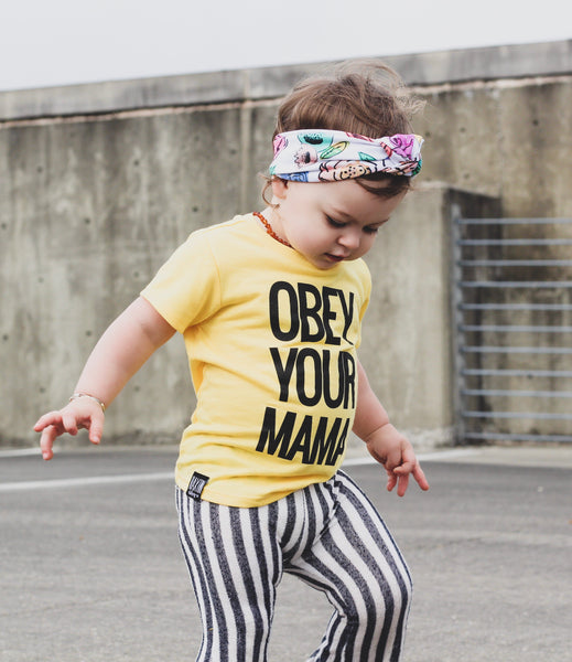 OBEY YOUR MAMA UNISEX KIDS T SHIRT | Raxtin Clothing Co - Love Sick Threads