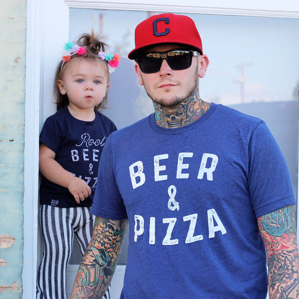 BEER & PIZZA UNISEX ADULT T SHIRT | Raxtin Clothing Co - Love Sick Threads