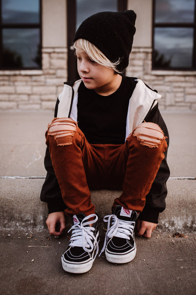 KIDS RUST SKINNIES | Raxtin Clothing Co - Love Sick Threads