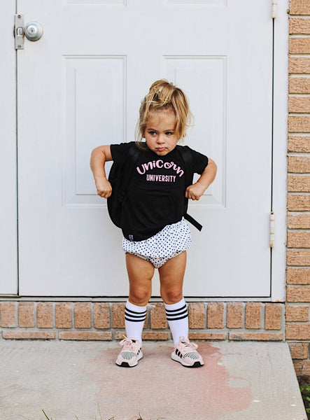 UNICORN UNIVERSITY KIDS T SHIRT | Raxtin Clothing Co - Love Sick Threads