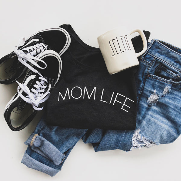 MOM LIFE tshirt , boatneck tshirt - Love Sick Threads