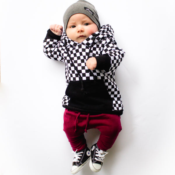 CHECKERED HOODIE | Raxtin Clothing Co - Love Sick Threads