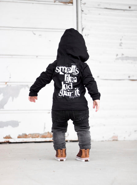 SMELLS LIKE KID SPIRIT UNISEX KIDS HOODIE | Raxtin Clothing Co