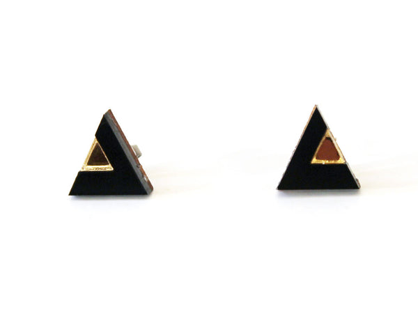 Bontle Studs - Black & Gold