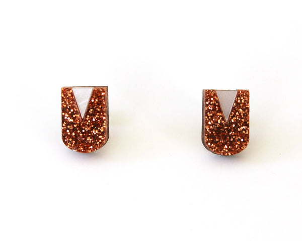 Neo Studs - Rose Gold