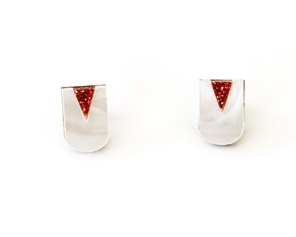 Neo Studs - White Marble