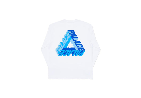 Palace P-3D Longsleeve White