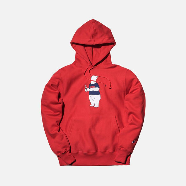Kith x Coca-Cola Polar Bear Hoodie - Red - The Sole Angel