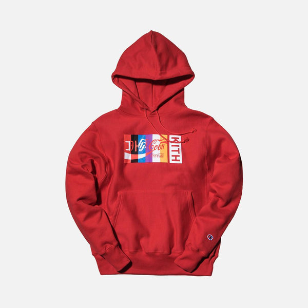 Kith x Coca-Cola International Hoodie - Red - The Sole Angel