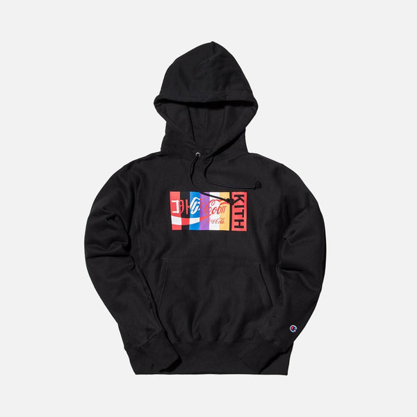 Kith x Coca-Cola International Hoodie - Black - The Sole Angel