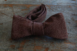 Classic Brown Wool Bow Tie