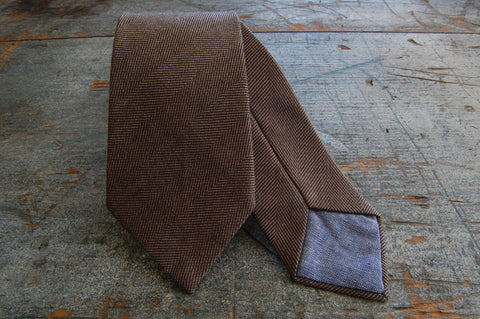 Brown Wool Neck Tie