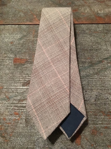 Pink & Grey Striped Neck Tie