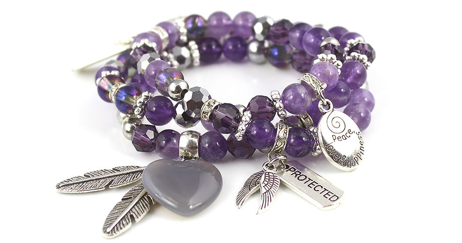 Amethyst Protection Gemstone Bracelet