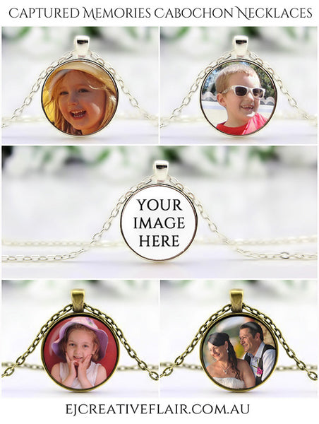 Captured Memories Cabochon Necklaces available from EJ Creative Flair