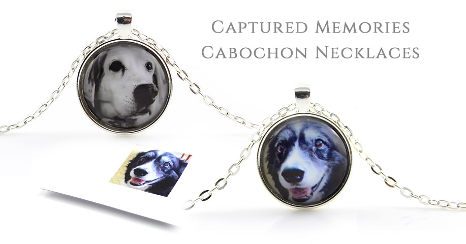 Personalised Captured Memories Cabochon Necklaces