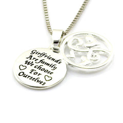 Girlfriends Are Family Necklace