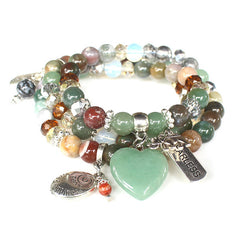 Protected Heart Gemstone Bracelet