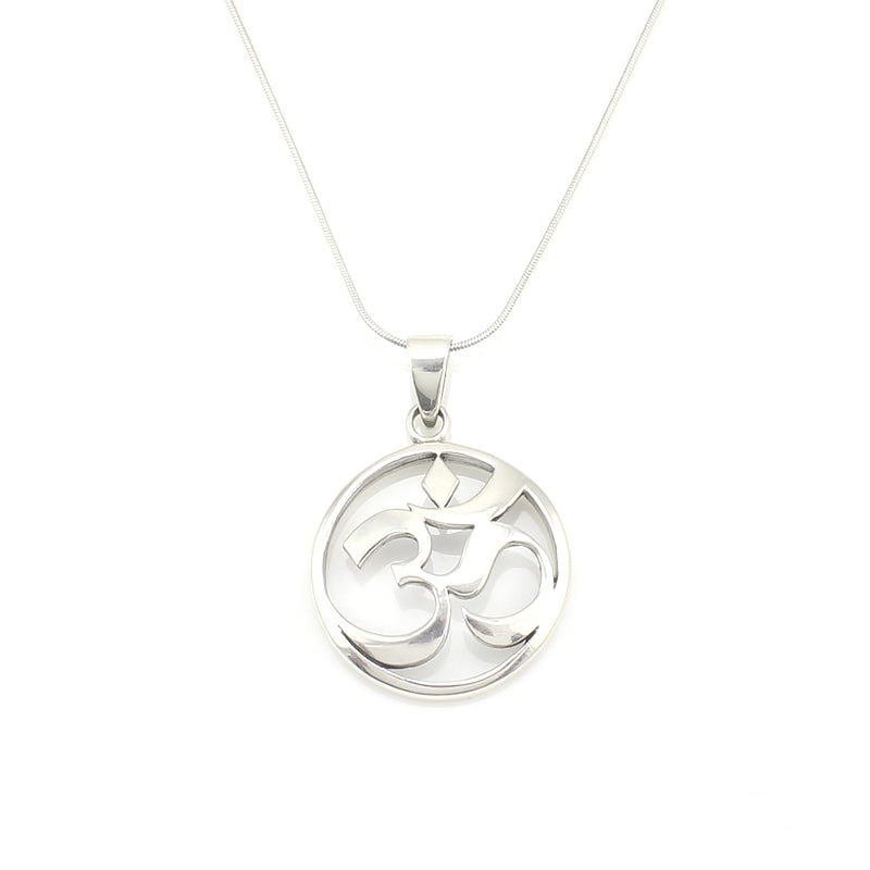 Sterling silver om necklace ej creative flair sterling silver om necklace aloadofball Images