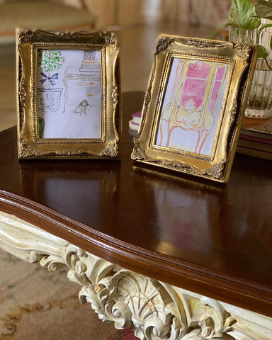 French antique ormolu history of rococo decorative arts brass Louis XV frame