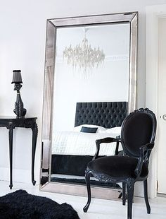 big mirror bedroom with beautiful french chair free shipping India