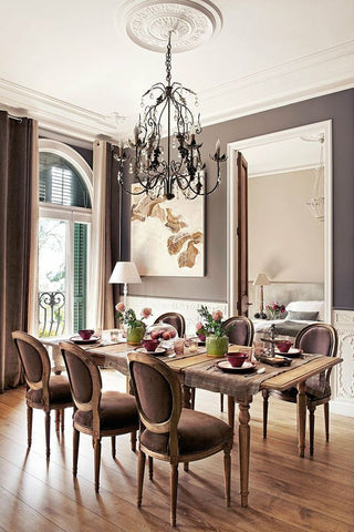 french style elegant decor & design for dining room
