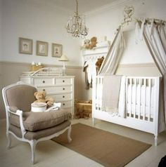nursery decor with beautiful french chair