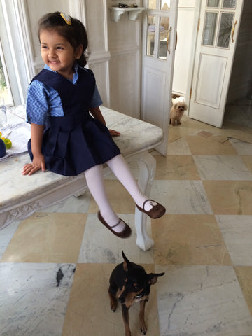 first day at school, school life, daughter, beautiful home