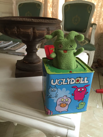 Jack in the box, ugly dolls, cute children's tin toys