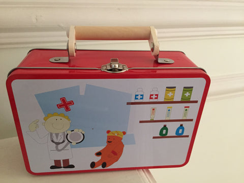 tin doctor set for kids, role-play toys