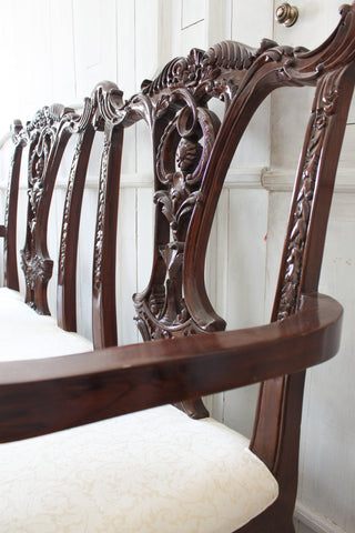 Chippendale furniture traditional study office design English antiques